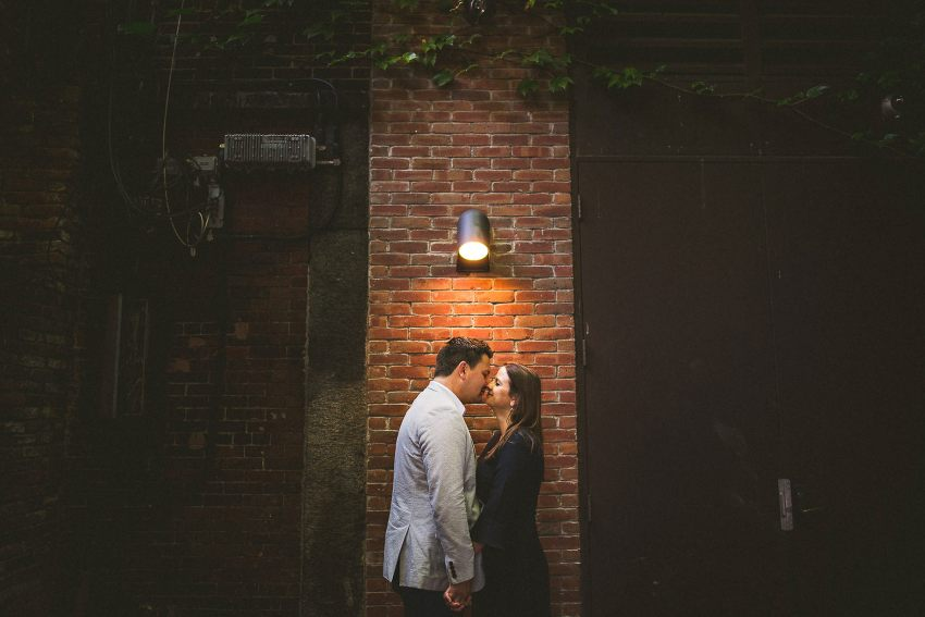 Beacon Hill alleyway engagement