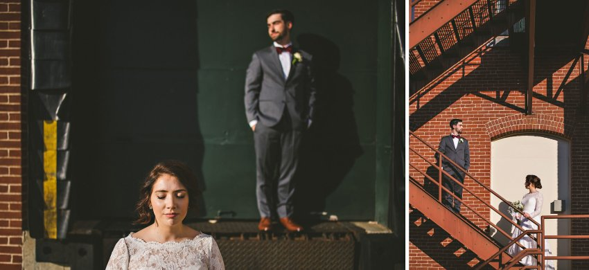 Creative downtown Manchester wedding photos