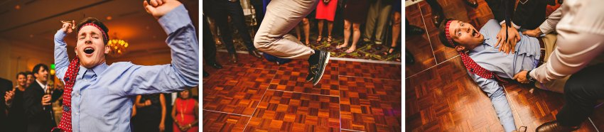 Wedding reception dance off