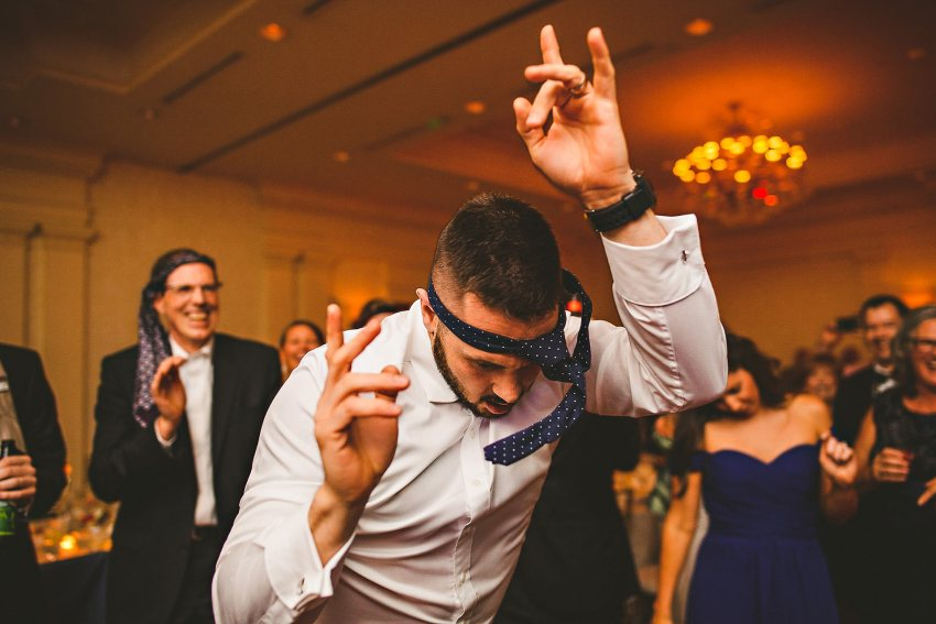 Epic wedding reception dancing