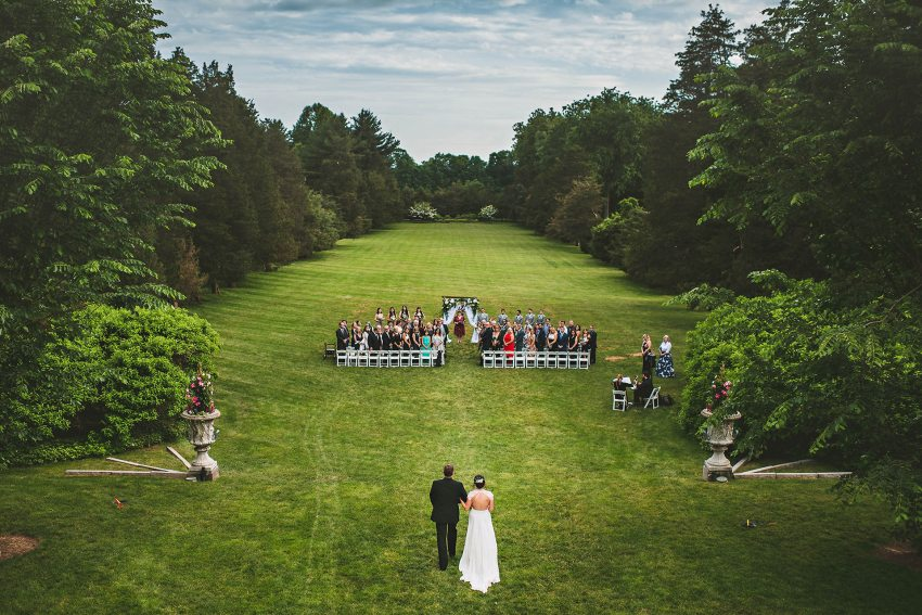 Wadsworth Mansion wedding processional