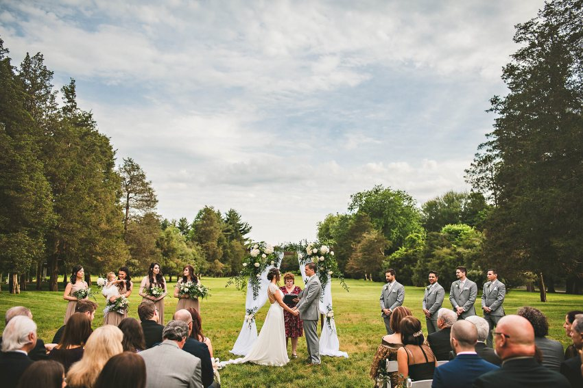 Spring wedding ceremony