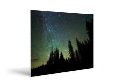 wolf creek pass stars Metalic Print Sample