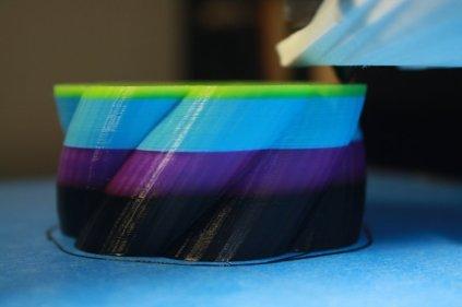 3D Printed Rainbow Vase