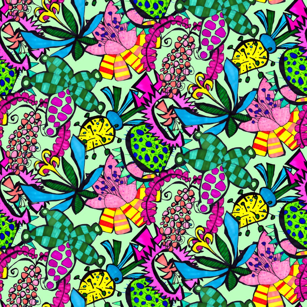 Pattern and print design LambicChapeau by Alex Russell