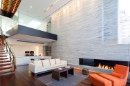 New York Triplex Showcasing an Imposing Double-Height Living Zone