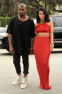 Kanye & Kim @ Grammys Pre Party 2015