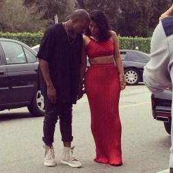 Kanye with Yeezy 750 Boost