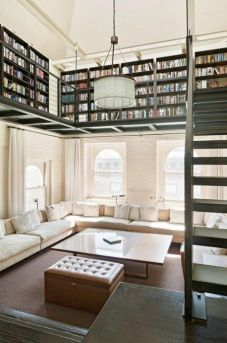 Loft with second floor Library