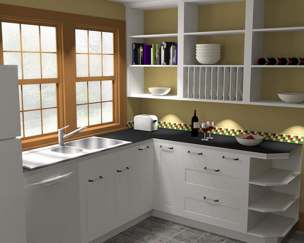 Traditional White Kitchen Design 3d Rendering: Rendering SketchUp Models With Kerkythea