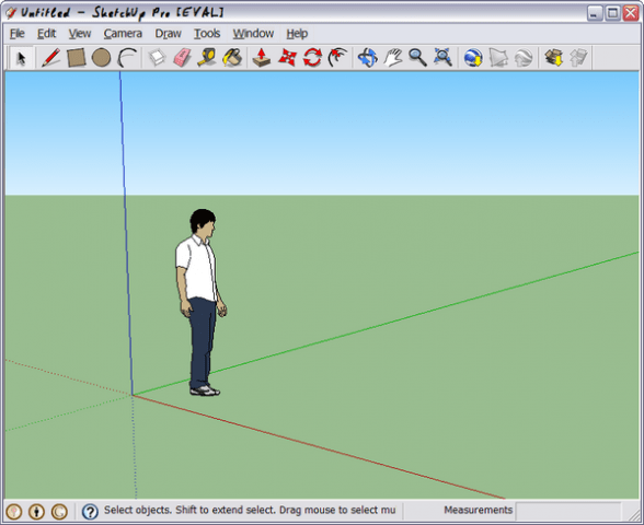 SketchUp 7 Screen