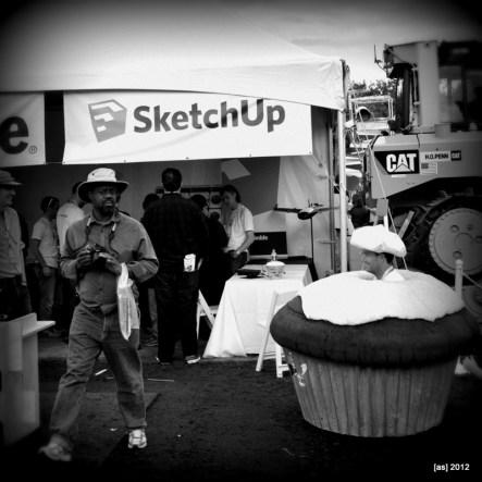 Driving cupcake meets SketchUp