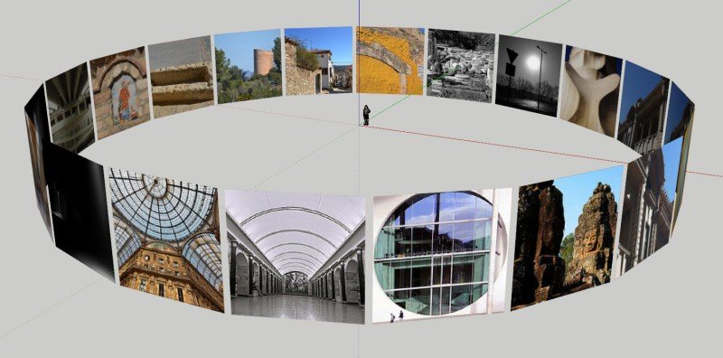 Flickr photos in SketchUp