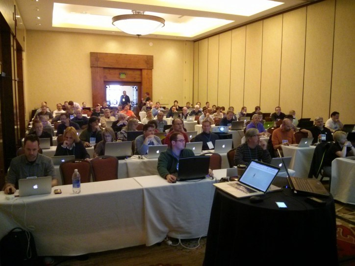 The audience at my and Daniel Tal's combined presentation