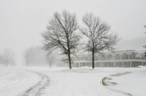 Snow storm in Amherst