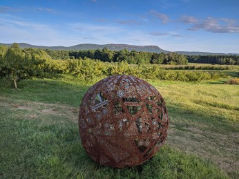 A sphere of washers at Park Hill