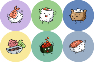 New Sushi Buttons