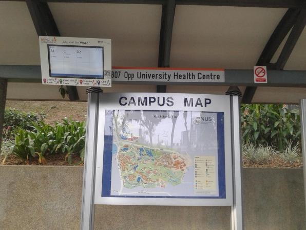 There are also detailed campus maps with the bus stops marked. Также установлены подробные карты кампуса с указанием автобусных остановок.