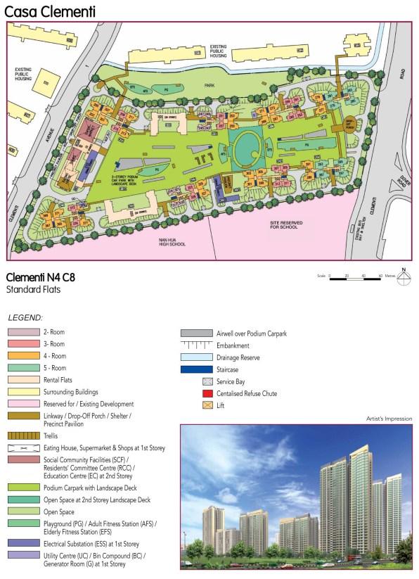 "Schematic plan of Casa Clementi. План-схема ""Каса Клементи""."