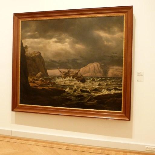 A Shipwreck on the Coast Near Bergen by J.C. Dahl