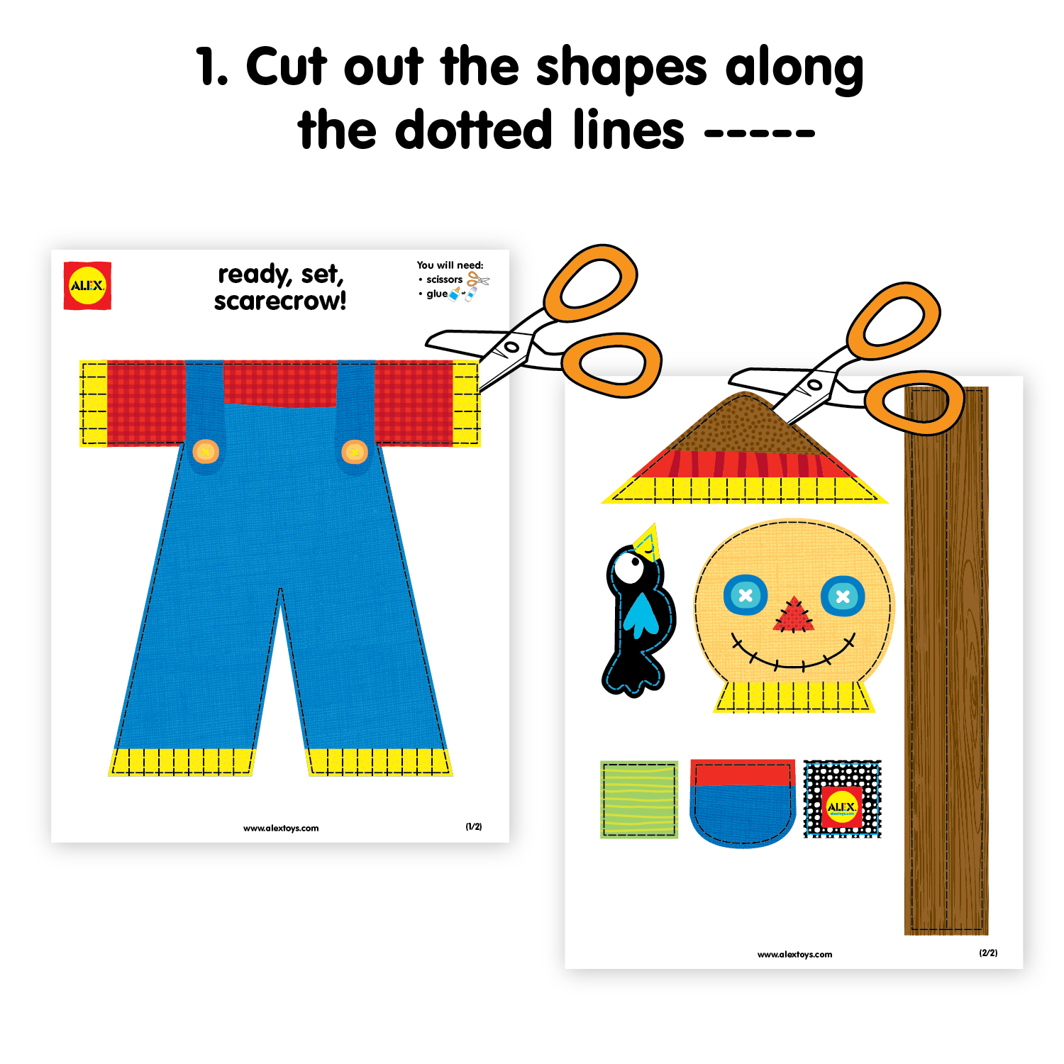 Printable Ready Set Scarecrow