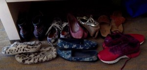 UAC shoes, all eight pairs