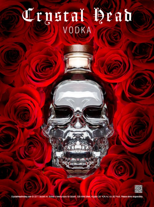 Crystal Skull Head Vodka Original Concept Ad