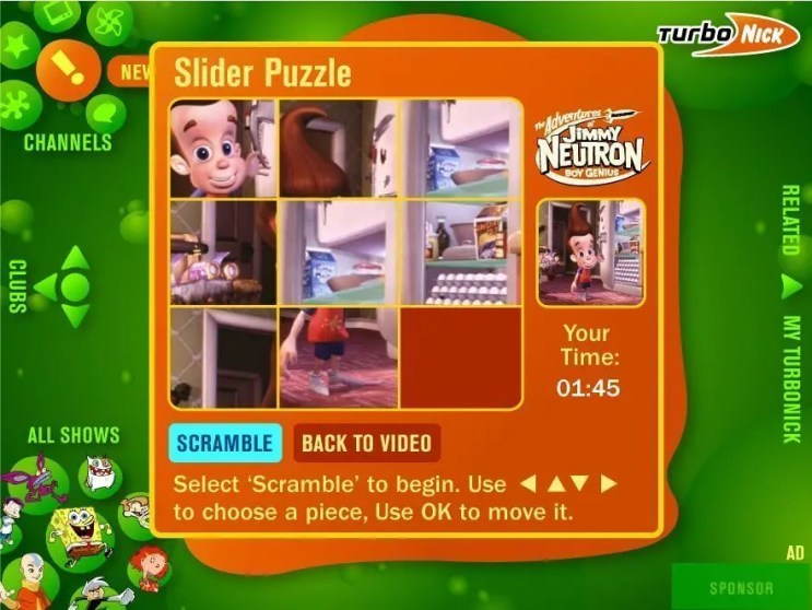 Slider puzzle game