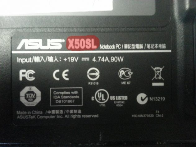 Laptop modell asus