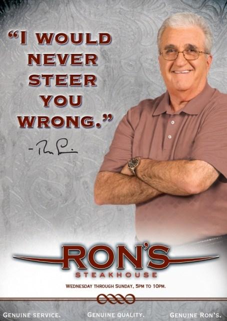ron's steakhouse copywriting