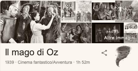 Easter Egg google Il mago di Oz in bianco e nero