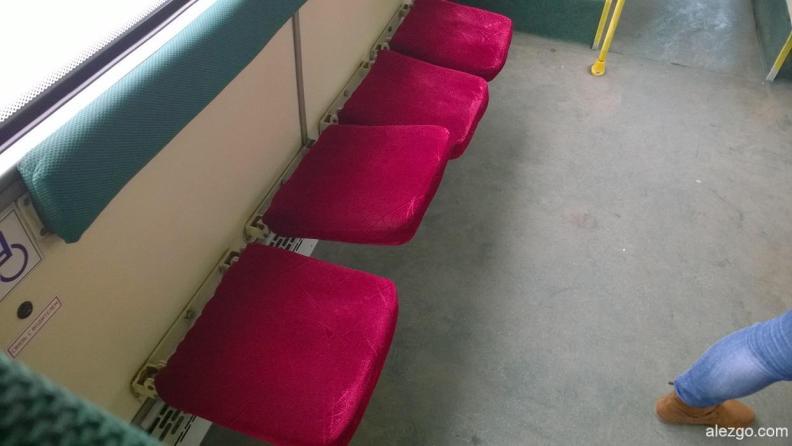 салон автобуса, сиденья автобуса