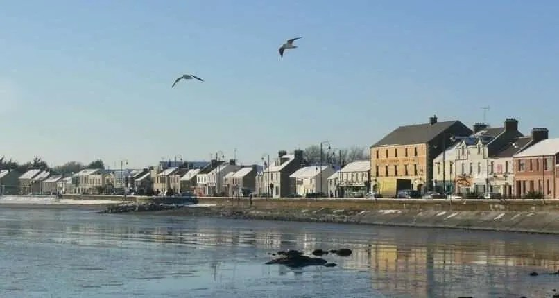 Blackrock County Louth Ireland in the wintersun