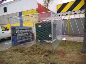 Malla para protección de transformador y tablero eléctrico