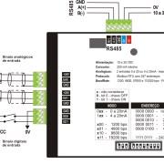 Interface Modbus com 2 entradas analógicas e 2 entradas digitais – IM2020