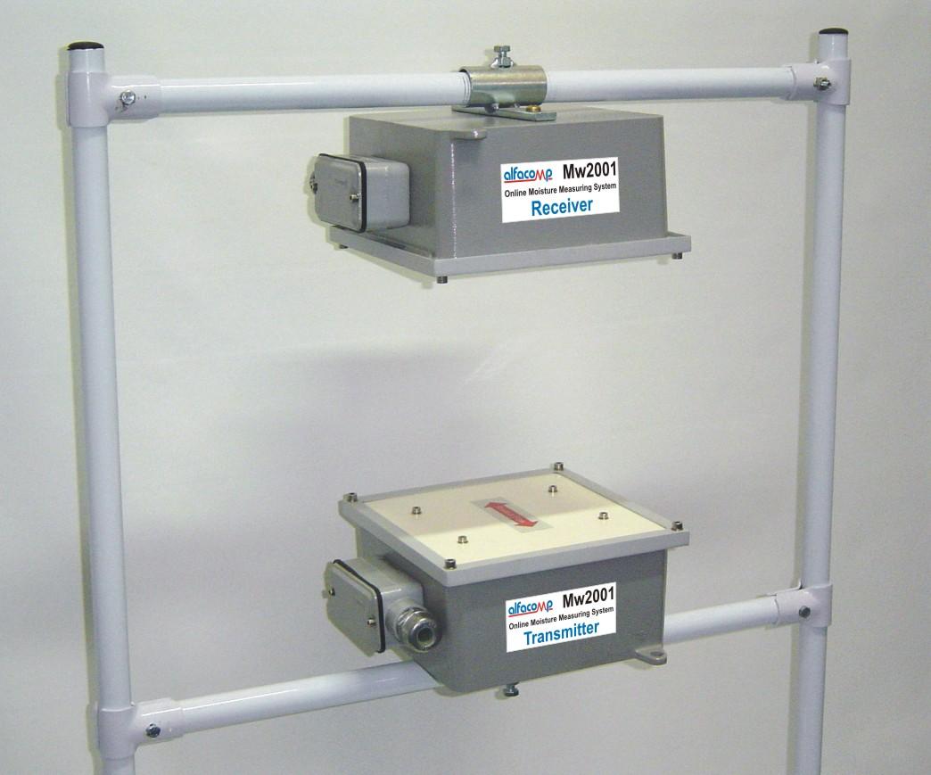 Medição contínua de umidade em esteiras transportadoras