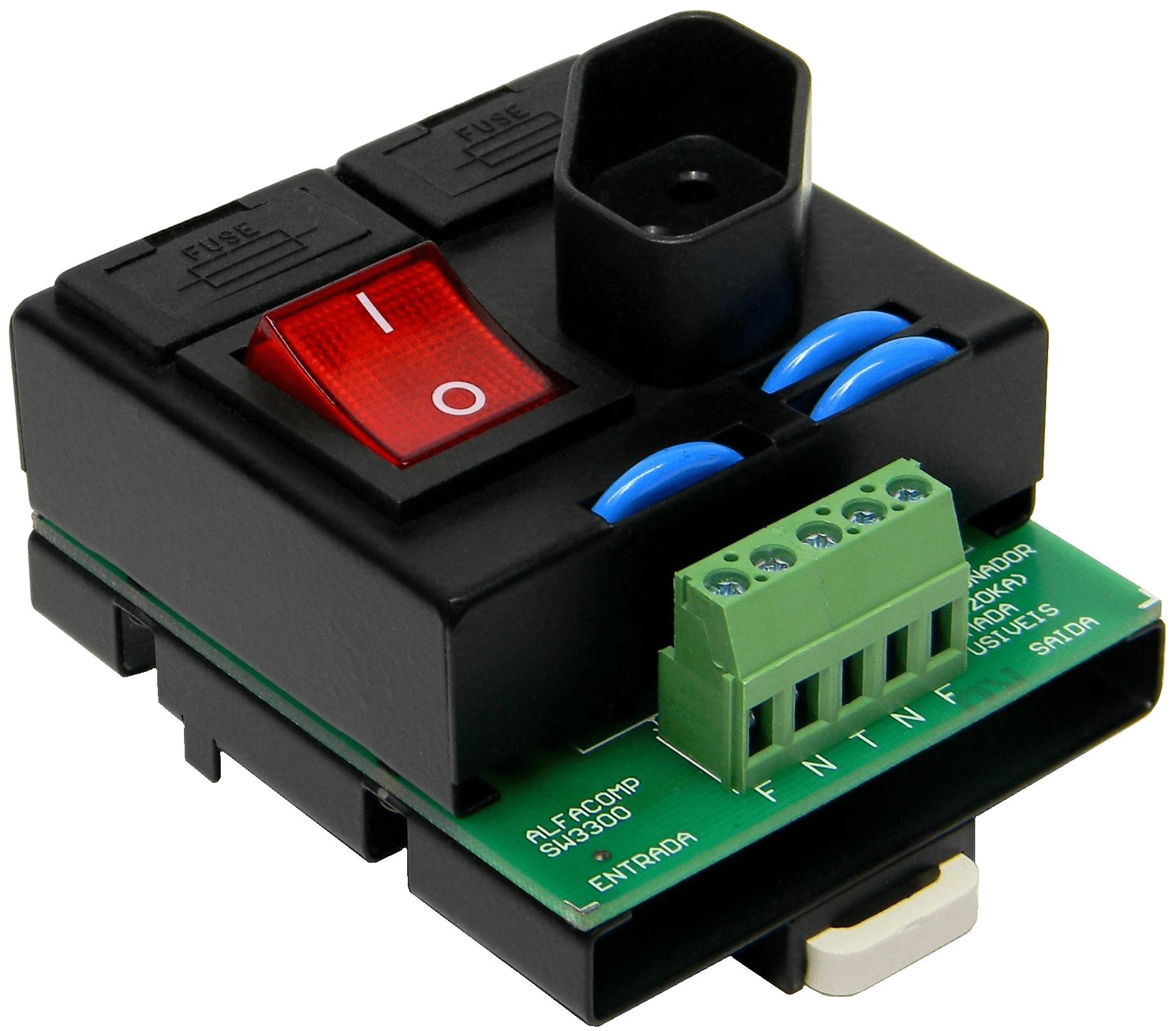 DPS seccionador e tomada em um módulo compacto