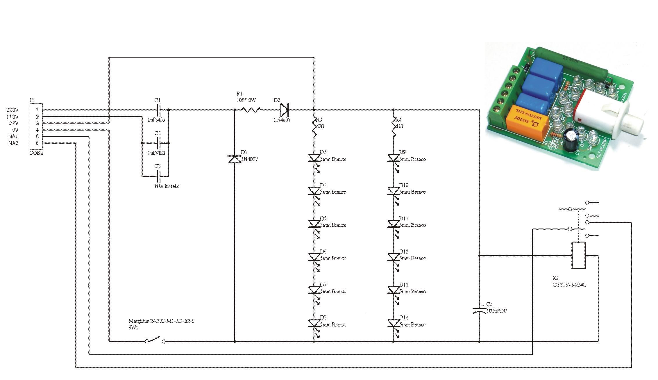 Circuito de iluminador a LED para painel de comando