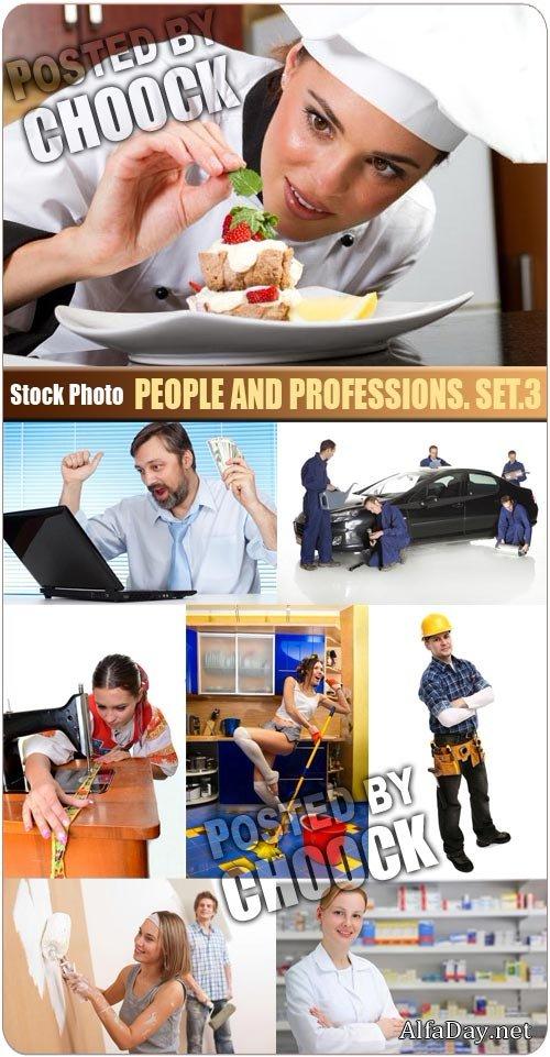 Фото Люди и профессии, повар, бизнесмен, швея, строитель ...