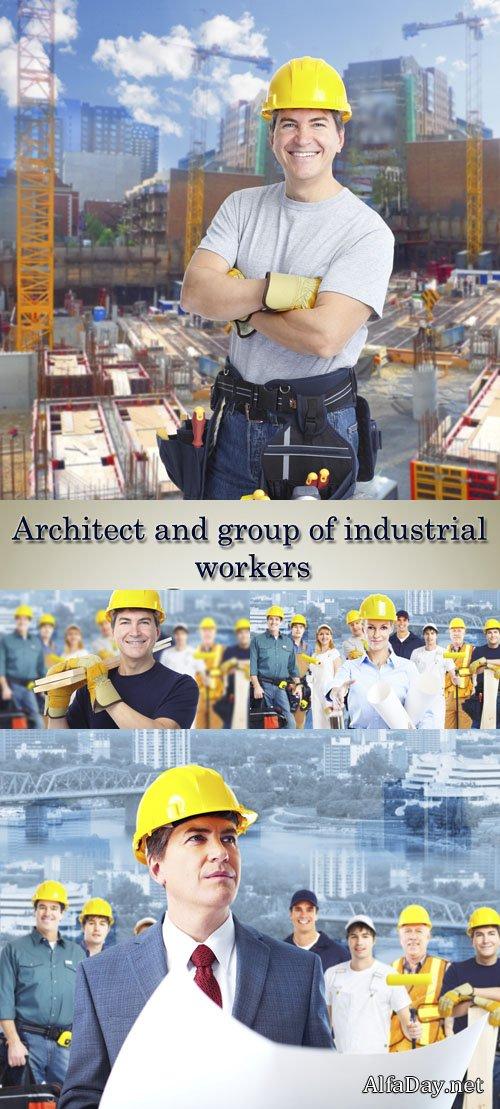 Архитектор, строители, рабочие, инженер, мужские профессии ...