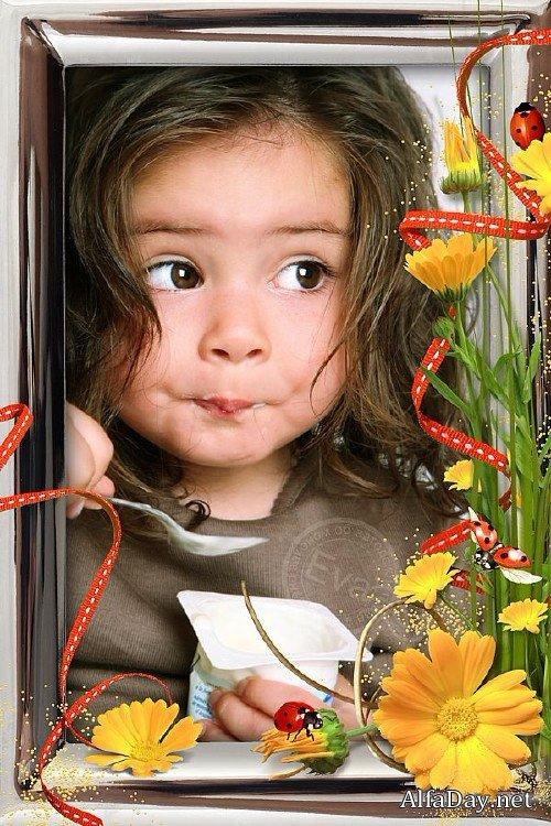 Детская рамка для фото - Цветы календулы » Выпускные ...