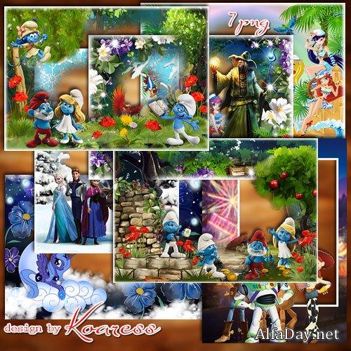Сборник детских рамок для фото в формате png со сказочными ...