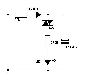 230V blinkin LED
