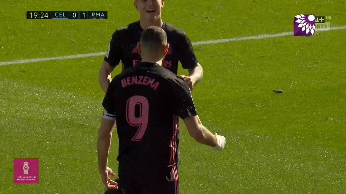 شاهد الهدف الاول (1 – 0) لصالح ريال مدريد في شباك سيلتا فيغو