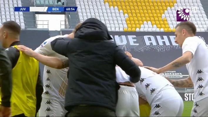 شاهد الهدف الاول (1 – 0) لصالح بينفينتو في شباك يوفنتوس