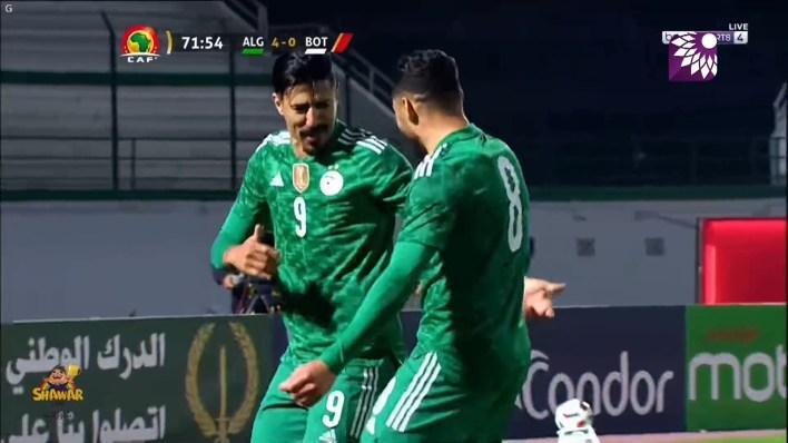 شاهد الهدف الرابع (4 – 0) لصالح الجزائر في شباك بوتسوانا