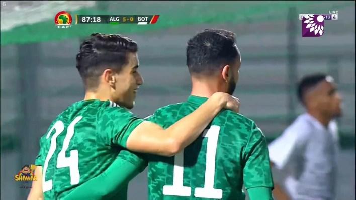 شاهد الهدف الخامس (5 – 0) لصالح الجزائر في شباك بوتسوانا