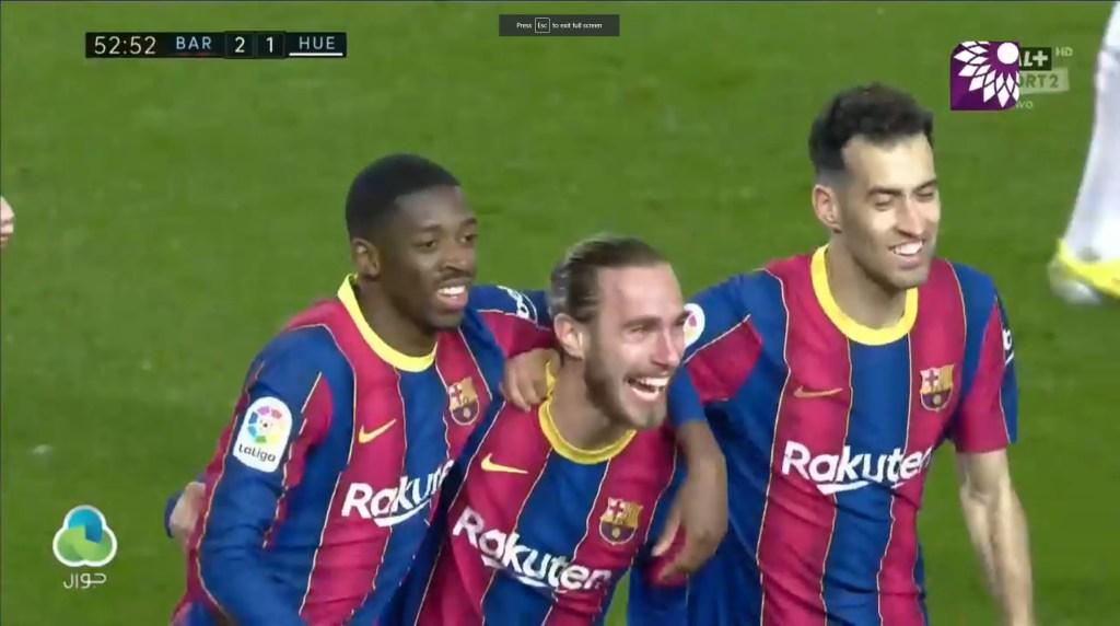 شاهد الهدف الثالث (3 – 1) لصالح برشلونة في شباك هويسكا