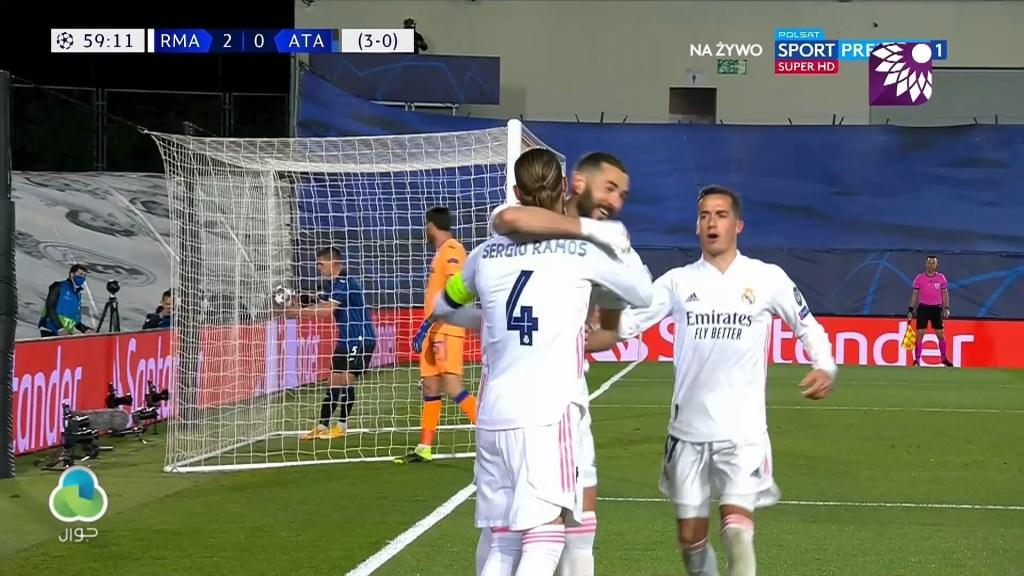 شاهد الهدف الثاني ( 2-0 ) لصالح ريال مدريد في شباك اتلانتا