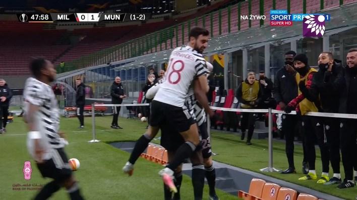 شاهد الهدف الاول ( 1-0 ) لصالح مانشستر يونايتد  في شباك ميلان